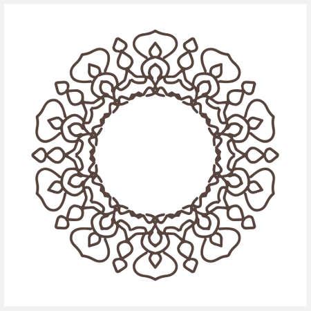 Outline frame isolated on white. Sketch vector stock illustration. EPS 10