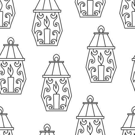 Doodle light seamless pattern isolated on white. Hand drawn art line. Sketch Vector stock illustration. EPS 10