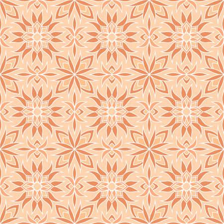 Floral seamless pattern. Doodle hand drawn art line. Sketch vector stock illustration. EPS 10