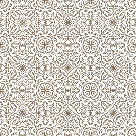 Vintage seamless pattern isolated on white. Doodle hand drawn art line. Sketch vector stock illustration. EPS 10