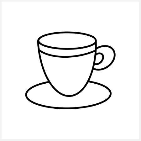 Doodle coffee cup isolated on white. Sketch vector stock illustration. EPS 10