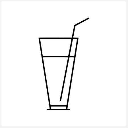 Sketch glas ico isolated. Juice cup. Cafe or restaurant symbol. Doodle drink vector stock illustration. EPS 10