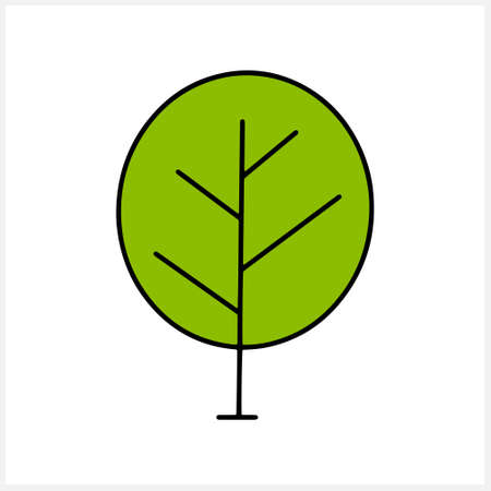 Doodle tree clipart isolated. Vector stock illustration. EPS 10 Illustration