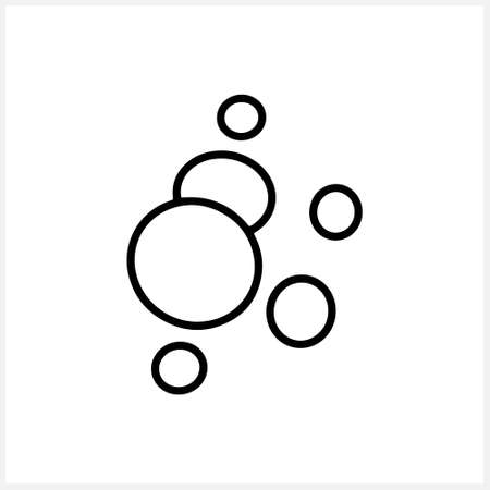 Sketch water bubble icon isolated. Vector stock illustration. Illustration