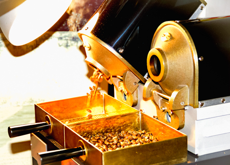Coffee roasting in small sample roaster
