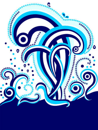 smoothness: Abstract design. Background with waves and splashes