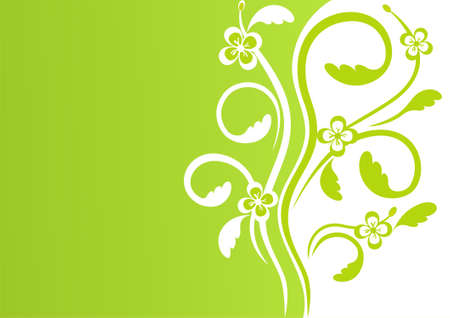 verdure: First spring flowers, floral element for design, vector background