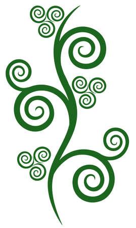 Vector de elementos florales para el diseño, ilustración, objeto aislado Ilustración de vector