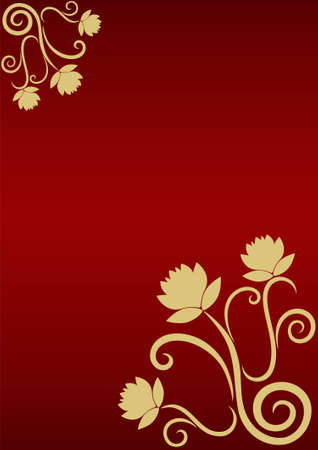 Abstract festive background with bunch golden roses Vector