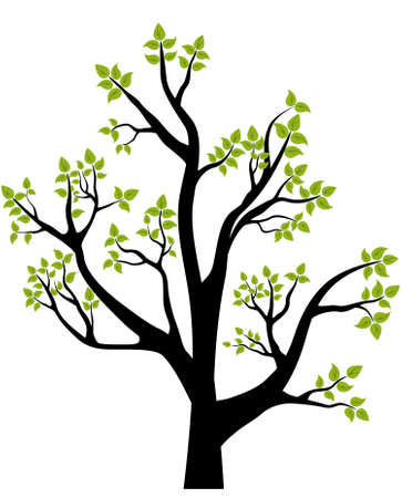 early blossoms: Spring Tree,  illustration, element for design, card or emblem Illustration
