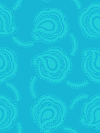 volute: Seamless background with paisley pattern in marine style Illustration