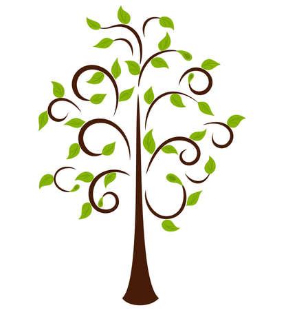 tendrils: Spring Tree, element for design, ornament for Your card or emblem Illustration