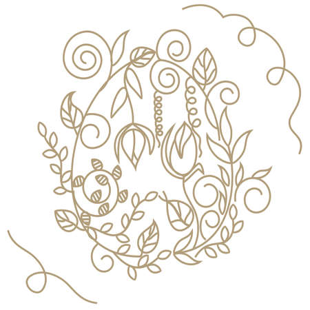 Decorative Easter Egg in vintage and delicate style Vector