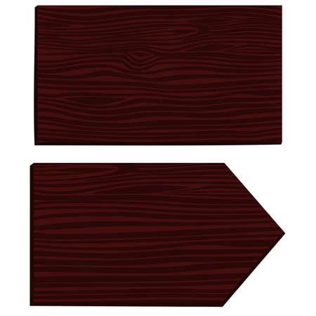 caoba: Dos signo de madera. objetos aislados