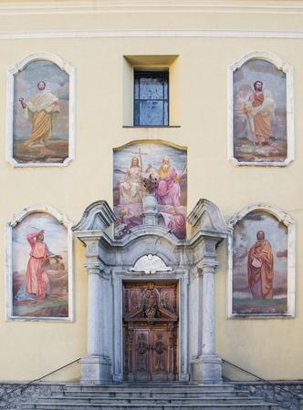 wood panelled: church of Santissima Trinità in Ponte di Legno, Italy