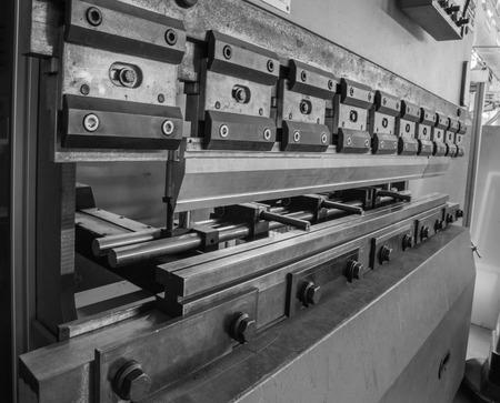 punch press: bending machine detail
