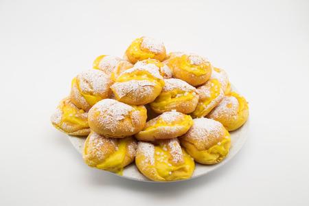 creampuff: handmade cream puffs with icing sugar