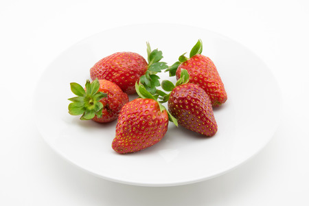 freshly picked: red strawberries freshly picked Stock Photo