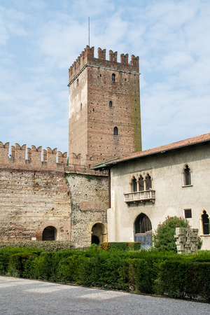 fortify: inner square of the old castle in Verona