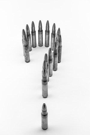 positioned: composition with bullets positioned as a question mark