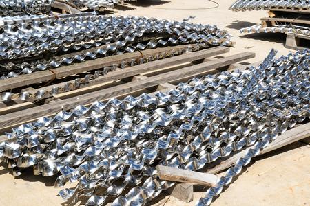 helical: abandoned aluminium helical strips