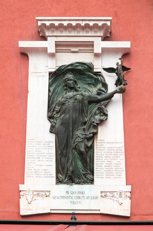 lybia: Verona, Italy - Plaque to commemorate those killed in the Libyan war in 1911-1912 Editorial