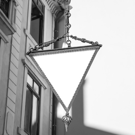 hotel sign: triangle hotel sign suitable as a frame or border.