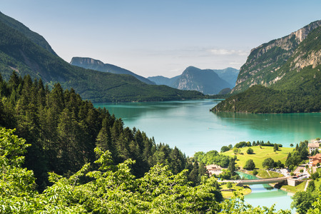 elected: Lake Molveno, elected most beautiful lake in Italy in 2015
