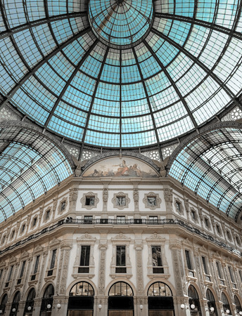 nineteenth: The gallery Vittorio Emanuele II, Milan, Italy was designed in the late nineteenth century by architect Giuseppe Mengoni.