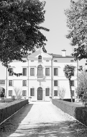 eighteenth: VERONA, ITALY - MARCH 29: Villa Bongiovanni open for a wedding fair on Verona Saturday, March 29, 2015. It was built in a neoclassical style in the eighteenth century by the Bongiovanni family.