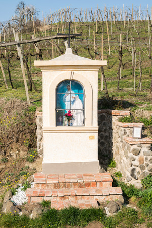 votive: Italian traditional votive temple in the countryside dedicated to the Virgin Mary to propitiate the harvest