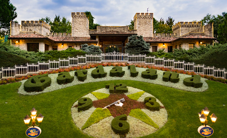 well maintained: CASTELNUOVO DEL GARDA, Italy - September 08: Gardaland Theme Park in Castelnuovo Del Garda, Italy on Tuesday, September 8, 2015. Three million people visit the park on a yearly basis.