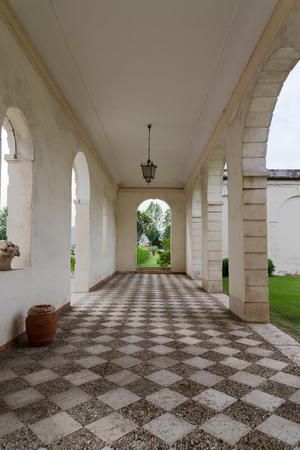 18th: VICENZA, ITALY - MAY 13: Villa Cordellina Lombardi, built in 18th century on a design by architect Giorgio Massari on Wednesday, May 13, 2015. Editorial