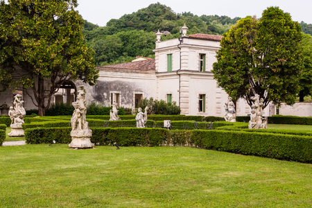18th: Montecchio Maggiore(Vicenza, Veneto, Italy) - Park of Villa Cordellina Lombardi, built in 18th century Stock Photo