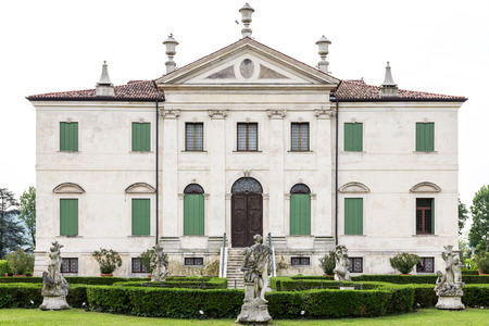 neo classical: VICENZA, ITALY - MAY 13: Villa Cordellina Lombardi, built in 18th century on a design by architect Giorgio Massari on Wednesday, May 13, 2015. Editorial