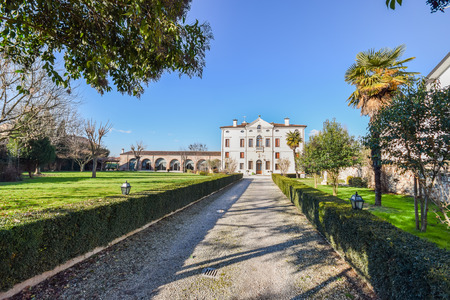 eighteenth: Verona, Italy - March 29:, 2015:Villa Bongiovanni open for a wedding fair on Verona Saturday, March 29, 2015. It was built in a neoclassical style in the eighteenth century by the Bongiovanni family.