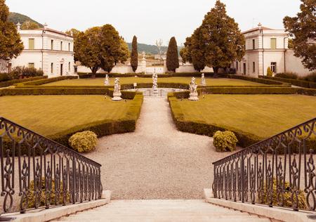 18th: Vicenza, Italy - May 13, 2015: Park of Villa Cordellina Lombardi, built in 18th century. Editorial