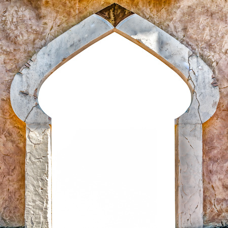 arabic architecture: Typical Arabic architecture entrance suitable as a frame or border.
