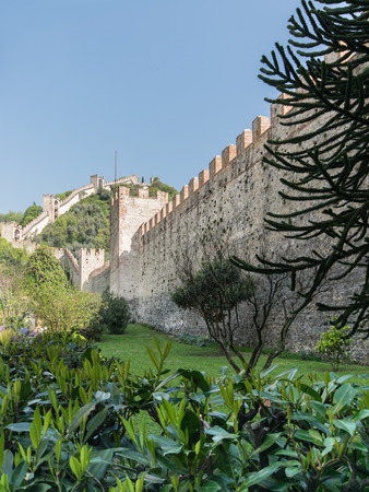 surrounding: Walls surrounding the medieval town of Marostica, Italy.
