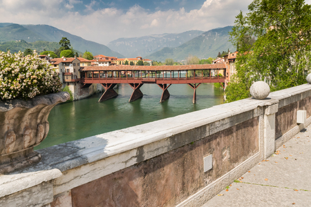 lintel: The Old Bridge also called the Bassano Bridge or Bridge of the Alpini, located in the city of Bassano del Grappa, in the Province of Vicenza, is considered one of the most picturesque bridges in Italy.