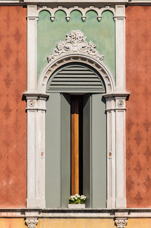 gothic style: Window in Venetian Gothic style Stock Photo