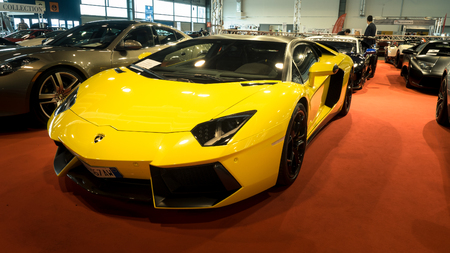lamborghini: Verona, Italy - May 9, 2015: The municipality of Verona organizes a free gathering of sports and antique cars. Are exposed the most beautiful cars in the world.