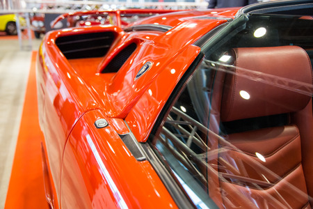 Verona, Italy - May 9, 2015: The municipality of Verona organizes a free gathering of sports and antique cars. Are exposed the most beautiful cars in the world.