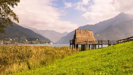 paleolithic: paleolithic pile-dwelling near Ledro lake