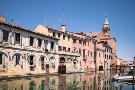 characteristic: Characteristic canal in Chioggia, lagoon of Venice, Italy.
