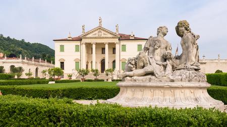 Vicenza, Italy - May 13, 2015: Villa Cordellina Lombardi, built in 18th century on a design by architect Giorgio Massari. Editorial