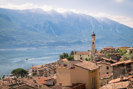 Panorama of Limone sul Garda, a small town on Lake Garda, Italy.