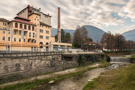 brewery: Exterior of Brewery Pedavena, Italy. Editorial