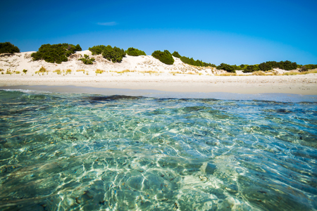 Transparent sea and crystal clear water of Sardinia island, Italy.