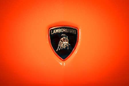 Verona Italy May 09 2015 The Lamborghini Logo Shows A Bull